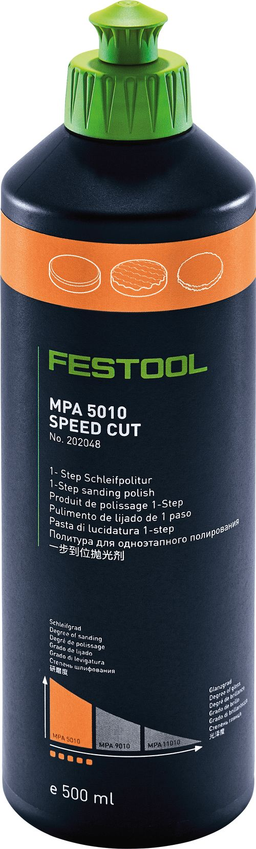 Festool Produto para polimento MPA 5010 OR/0,5L