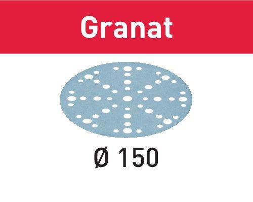 Festool Discos de lixa STF D150/48 P800 GR/50 Granat