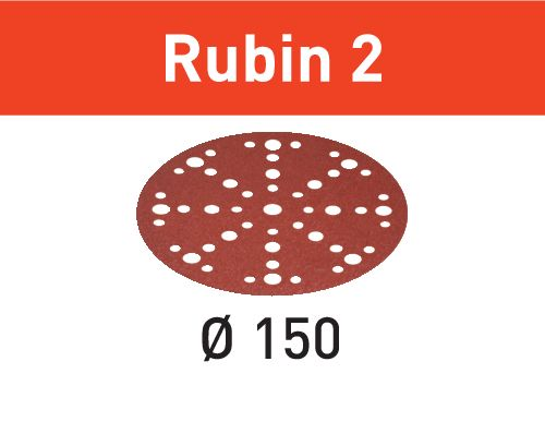 Festool Discos de lixa STF D150/48 P60 RU2/50 Rubin 2