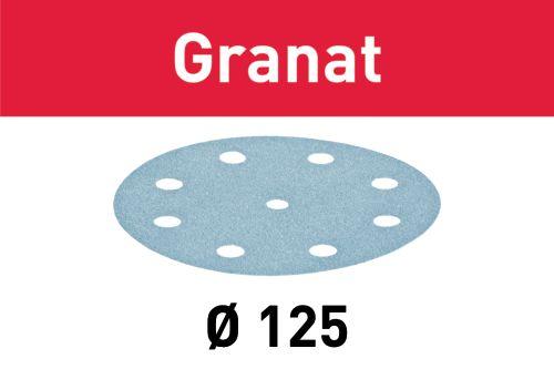 Festool Discos de lixa STF D125/8 P400 GR/100 Granat