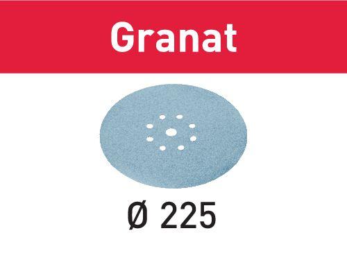 Festool Discos de lixa STF D225/8 P60 GR/25 Granat