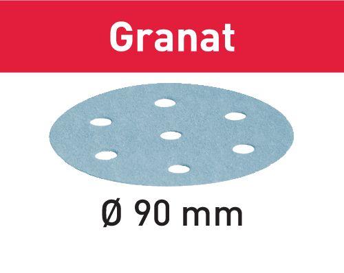 Festool Discos de lixa STF D90/6 P80 GR/50 Granat