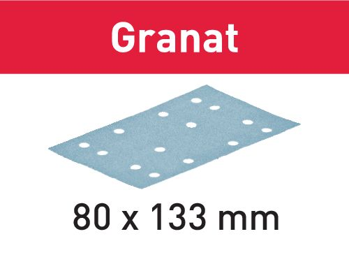 Festool Folhas de lixar STF 80x133 P80 GR/50 Granat