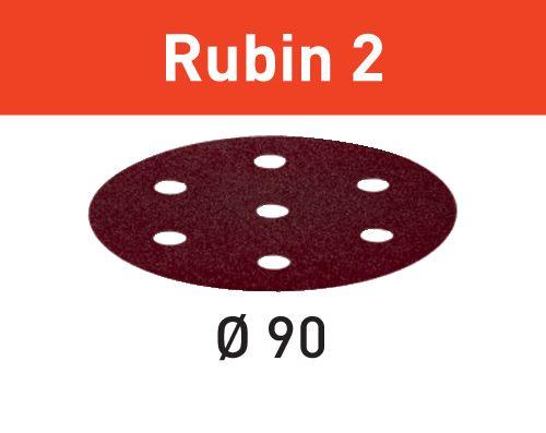 Festool Discos de lixa STF D90/6 P80 RU2/50 Rubin 2