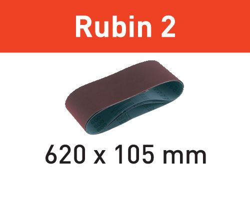 Festool Cintas de lixa BS 75 L620X105-P80 RU2/10 Rubin 2