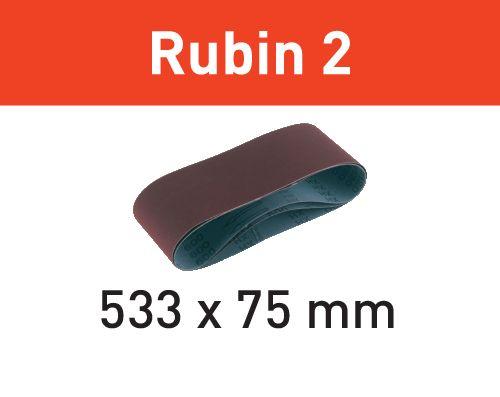 Festool Cintas de lixa BS 75 L533X 75-P120 RU2/10 Rubin 2